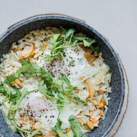 risotto z jajkiem